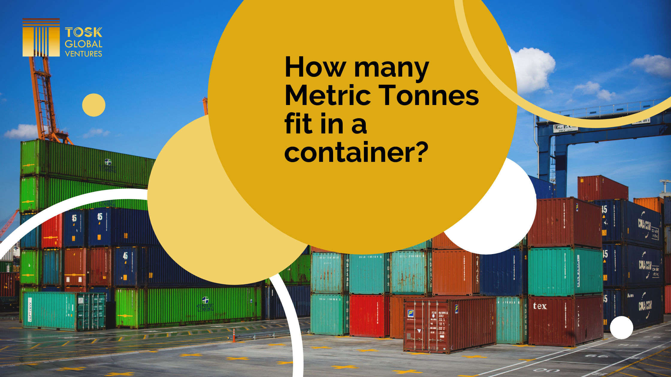 How many Metric Tones fit in a container